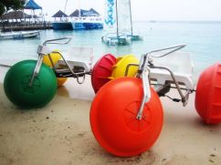 Some of the watersports offered at Ochi Beach