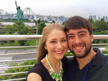 The Rainbow Bridge + Tokyo's Statue of Liberty