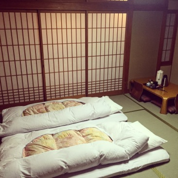 Futons in our Room at Kaneyoshi