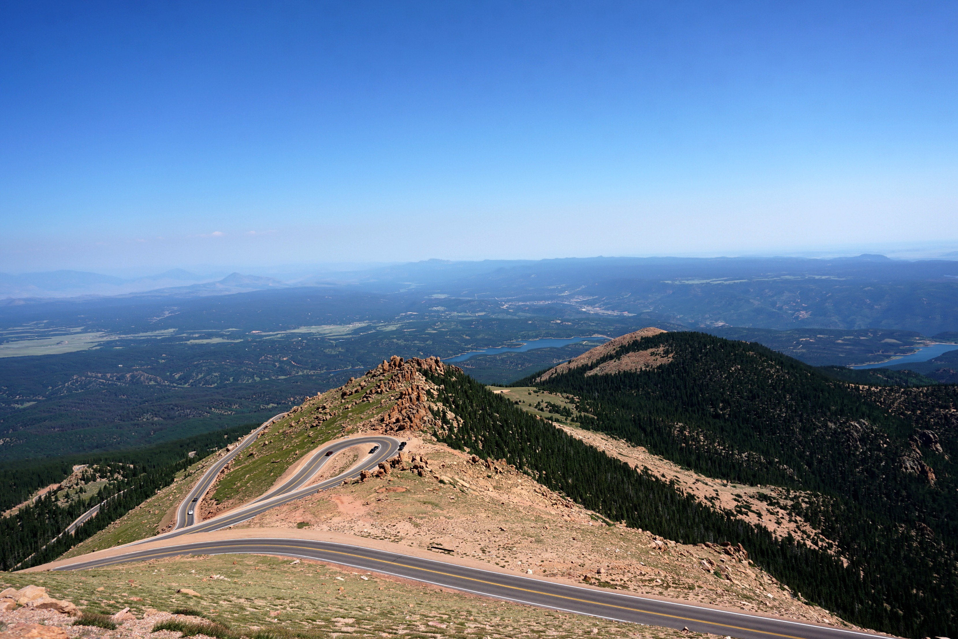 The road to Pikes Peak is a beautiful drive to enjoy during a summer in Colorado Springs.